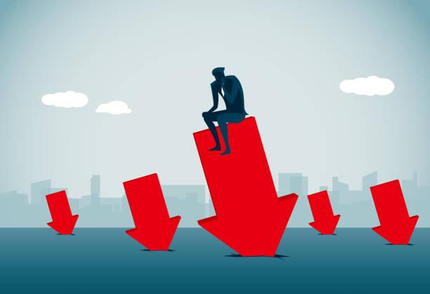deterioration - unemployment stock illustrations