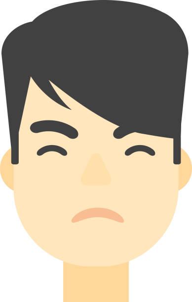 ilustraciones, imágenes clip art, dibujos animados e iconos de stock de hombre enojado detesting - emoji celoso