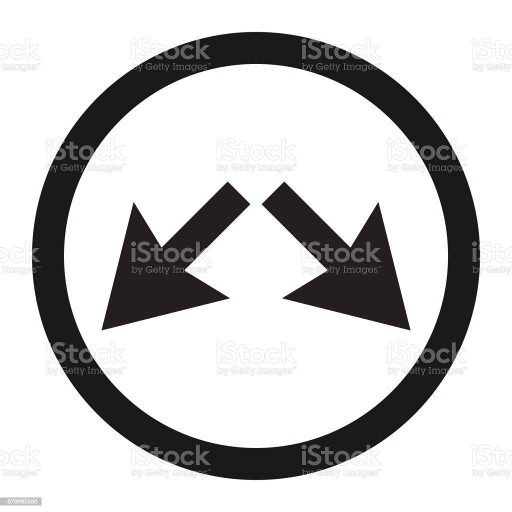 Servis yolu sağ veya sol işareti satırı simgesi royalty-free servis yolu sağ veya sol işareti satırı simgesi stok vektör sanatı & araba - motorlu taşıt'nin daha fazla görseli