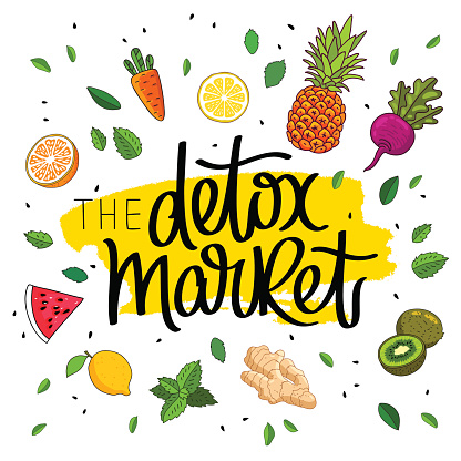 Detox market. The trend calligraphy