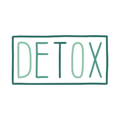 Detox vector lettering.