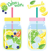 vector, illustration, organic, healthy, drink