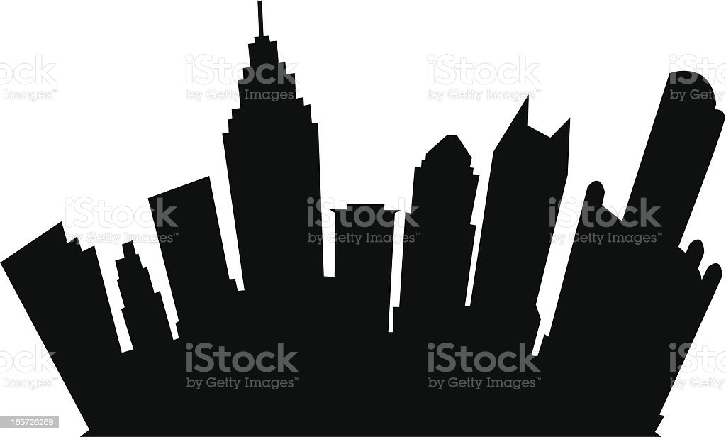 detroit cartoon silhouette stock vector art more images of rh istockphoto com  detroit skyline silhouette vector free