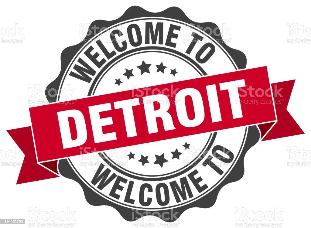 Detroit round ribbon seal royalty-free detroit round ribbon seal stock vector art & more images of award ribbon