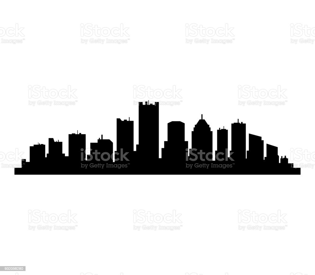 detroit skyline stock vector art more images of built structure rh istockphoto com  detroit skyline silhouette vector free