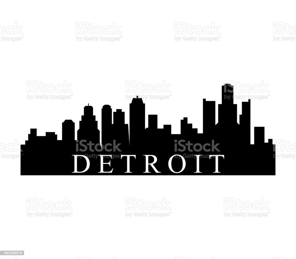 detroit skyline stock vector art more images of built structure rh istockphoto com