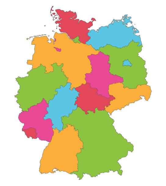deutschland_bundeslaender_farbe – Vektorgrafik