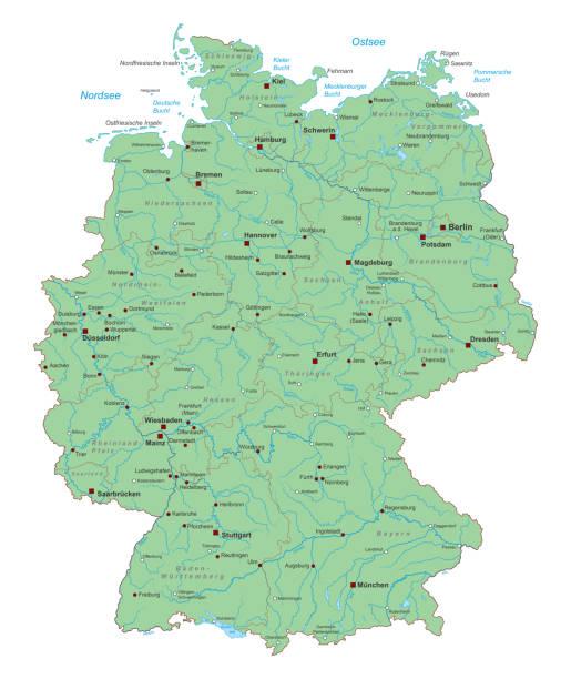deutschland_detail_inselkarte – Vektorgrafik