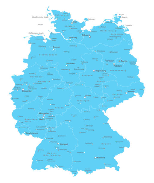 bildbanksillustrationer, clip art samt tecknat material och ikoner med deutschland_detail_neuelaender_01 - germany map leipzig