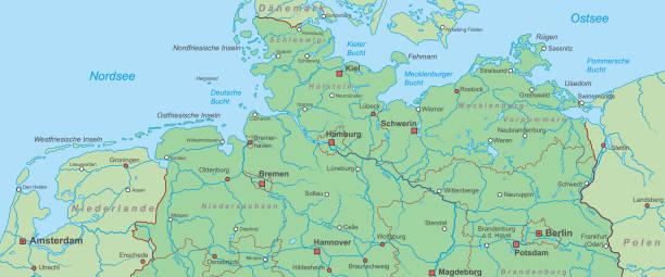 bildbanksillustrationer, clip art samt tecknat material och ikoner med deutschland_detail_v1 - germany map leipzig