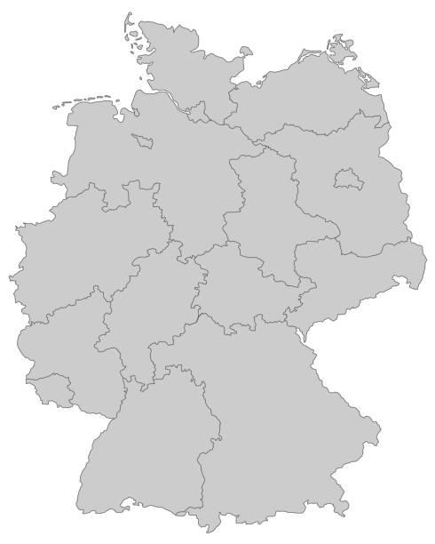 deutschland_grau – Vektorgrafik