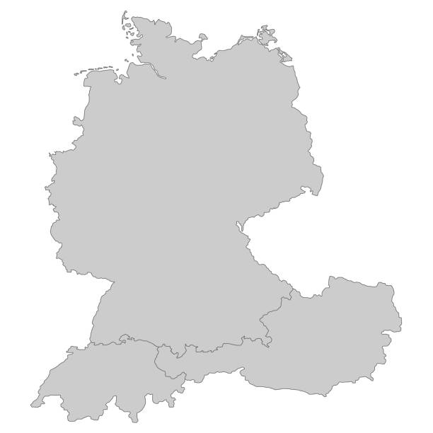 DeutschlandSchweizOsterreich Map of Germany, Austria and Switzerland germany stock illustrations