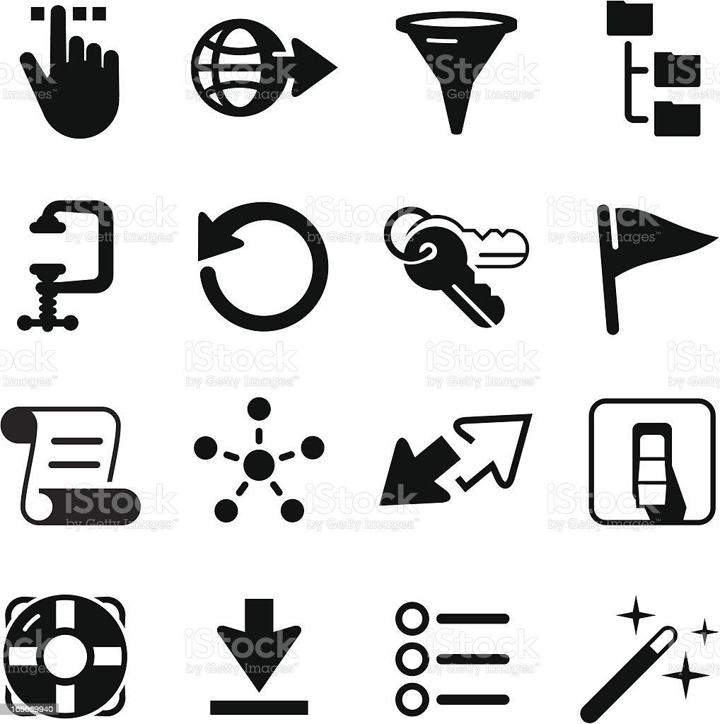 Developer Icons - Black Series vector art illustration