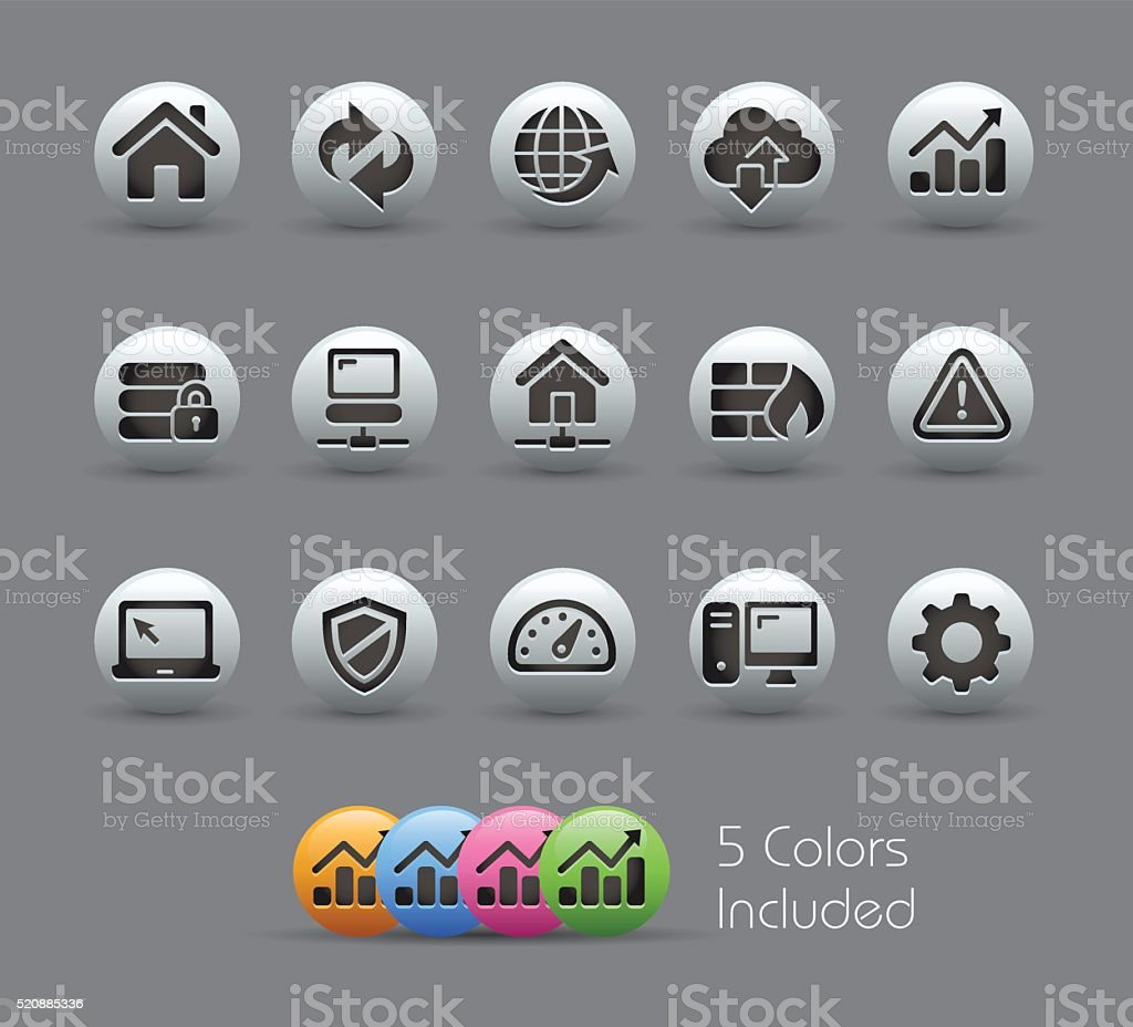 Developer Icons - Pearly Series vector art illustration