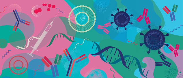 Developing mRNA Vaccines Concept
