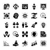 Development Glyph Vector Icons