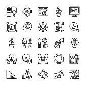 Development Line Vector Icons