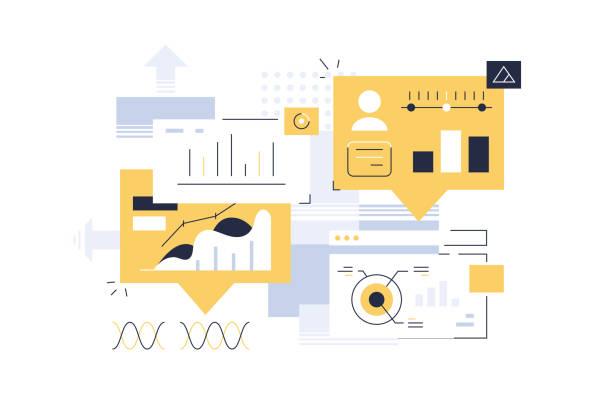 entwicklungsprozess des schnittstellendesigns - webdesigner grafiken stock-grafiken, -clipart, -cartoons und -symbole