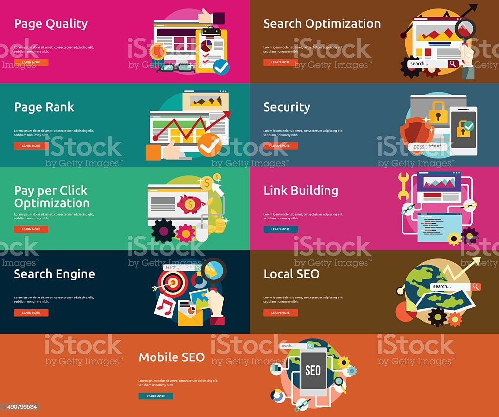 SEO & Development vector art illustration