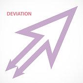 istock Deviation Arrow Symbol 1254482055