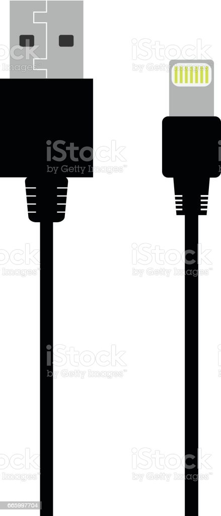 Device charger vector flat icon vector art illustration
