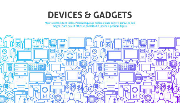 device gadgets concept - electronics stock illustrations