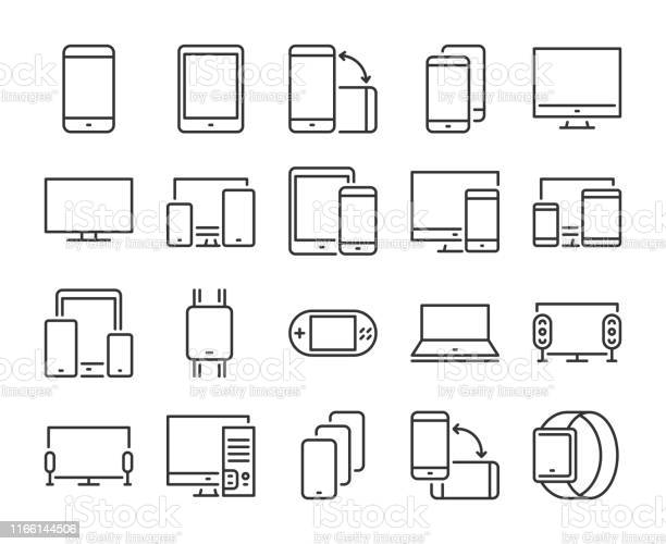 Device icon electronic and devices line icons set editable stroke vector id1166144506?b=1&k=6&m=1166144506&s=612x612&h=txfmgiedc mjak024dyztoz4vhlclk5f0cnt2tc8p7g=