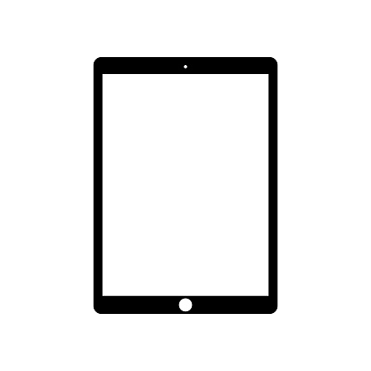 Device Icon Set On A White Background Stock Illustration - Download Image Now