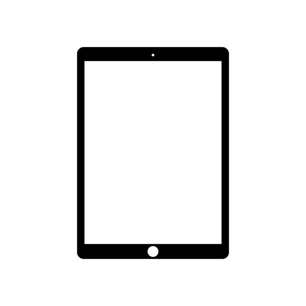 illustrazioni stock, clip art, cartoni animati e icone di tendenza di device icon set on a white background - ipad