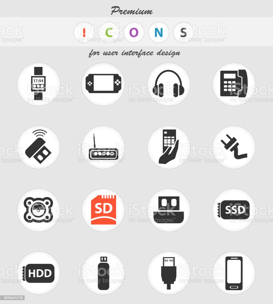 Device Icon Set Stock Vector Art More Images Of Bluetooth