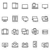 istock Device icon set 905595926