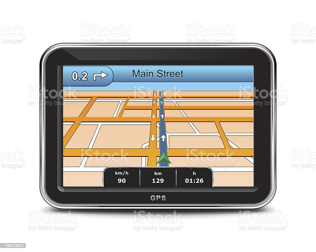 GPS Device Icon royalty-free gps device icon stock vector art & more images of a helping hand