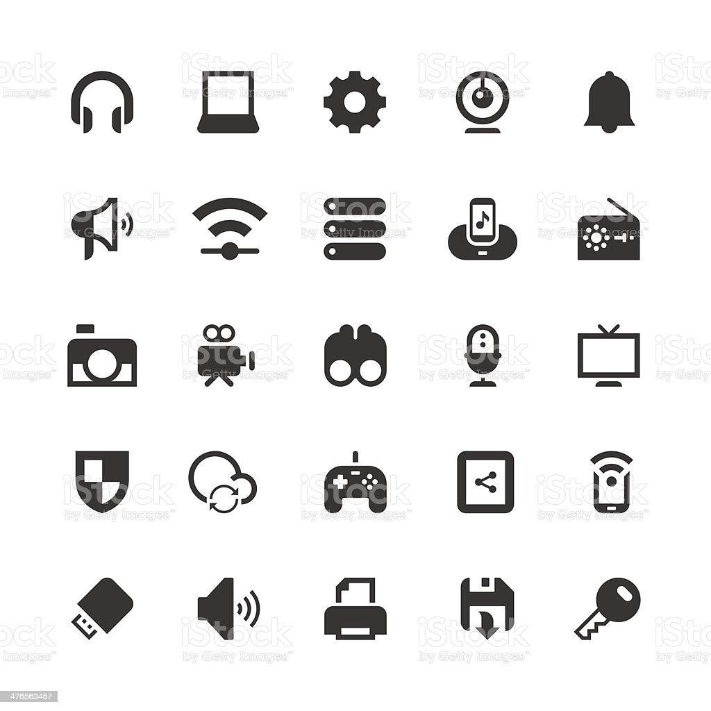 Device icon vector art illustration