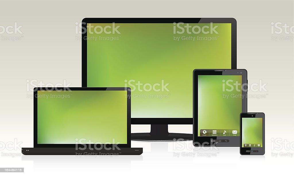 Device Set royalty-free stock vector art