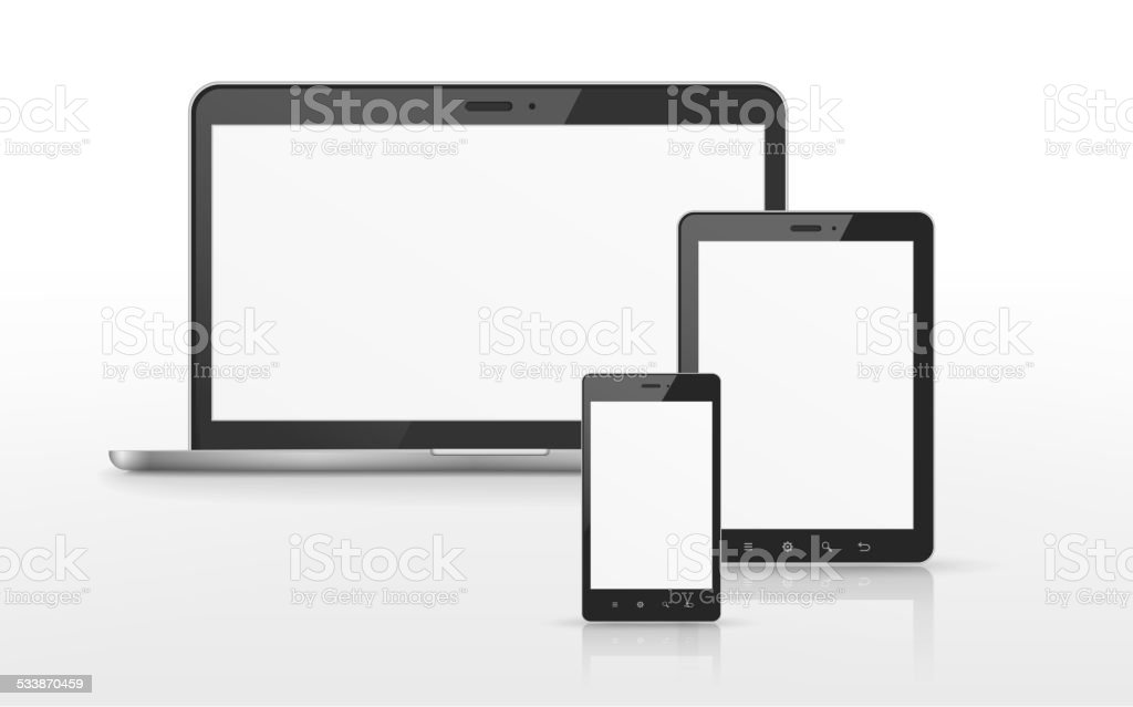 device set vector art illustration