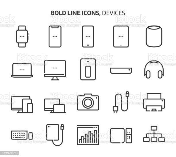 Devices bold line icons vector id922482716?b=1&k=6&m=922482716&s=612x612&h=ovkqbuyjb1idla74w6j1ry1bfm0puwbtn2vf84uvsco=