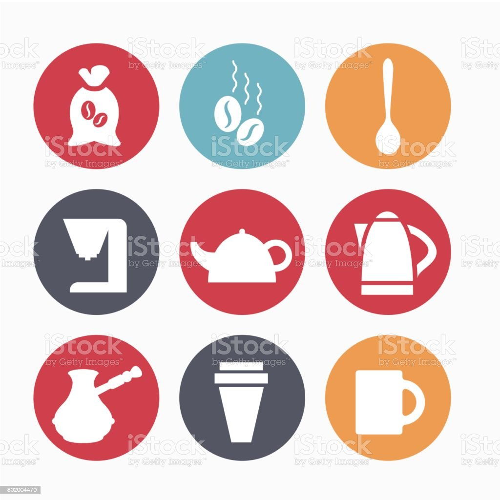 Devices for coffee vector art illustration