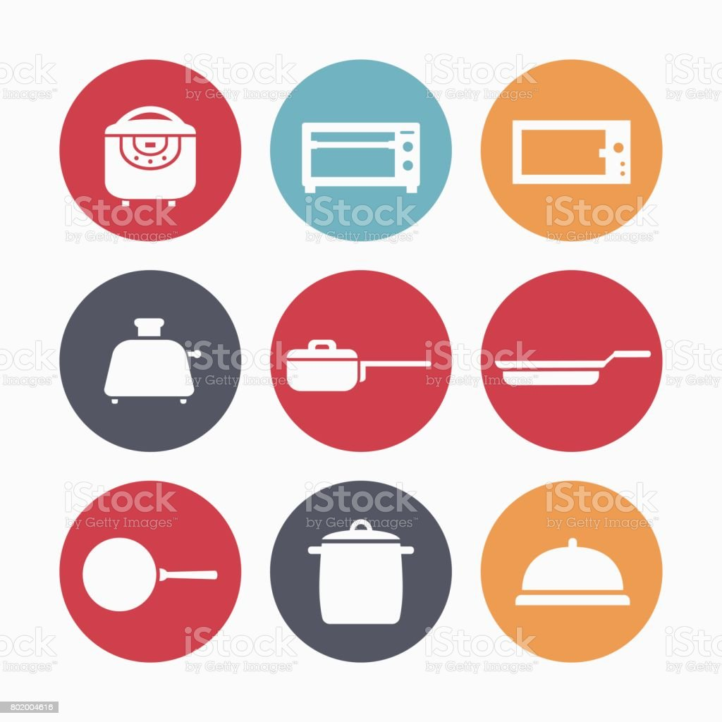 Devices for frying vector art illustration
