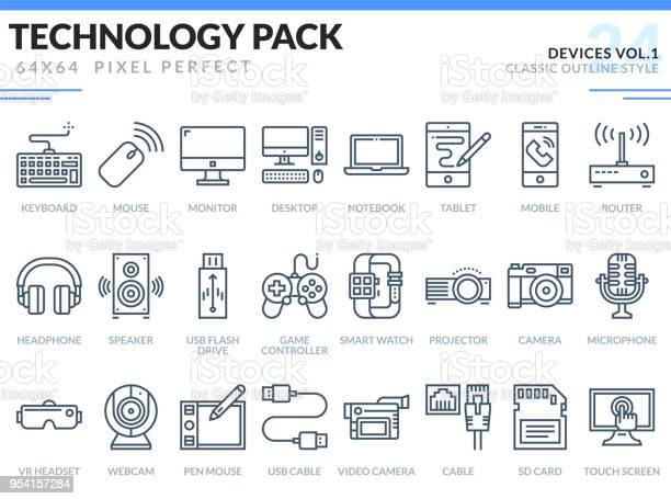 Devices icons set technology outline icons pack pixel perfect thin vector id954157284?b=1&k=6&m=954157284&s=612x612&h=suazzidxjph1h2ttnd4v5e1hkvdn4hd8ibscxz r0yw=
