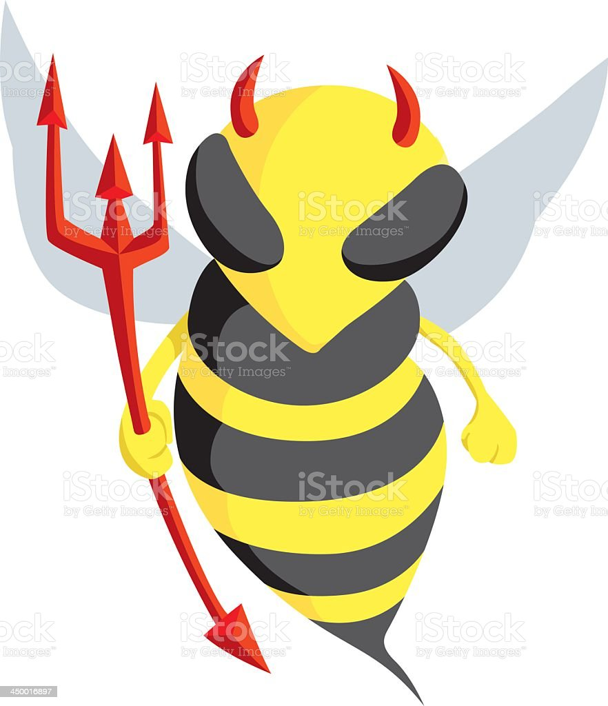 Devil Bee royalty-free stock vector art