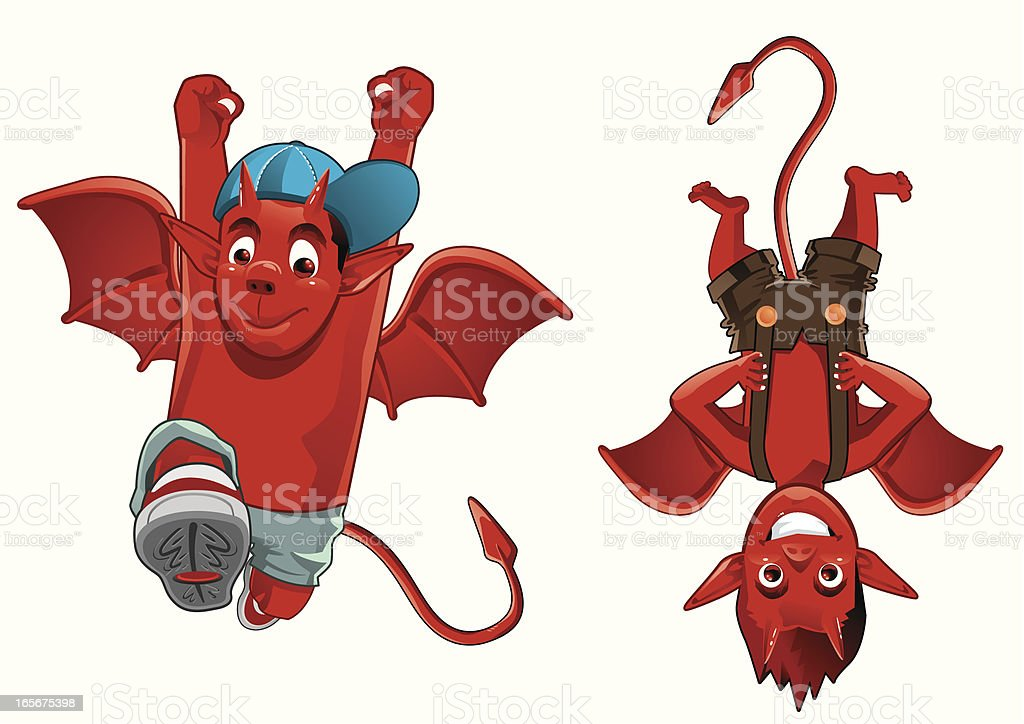 Devil Boys royalty-free stock vector art