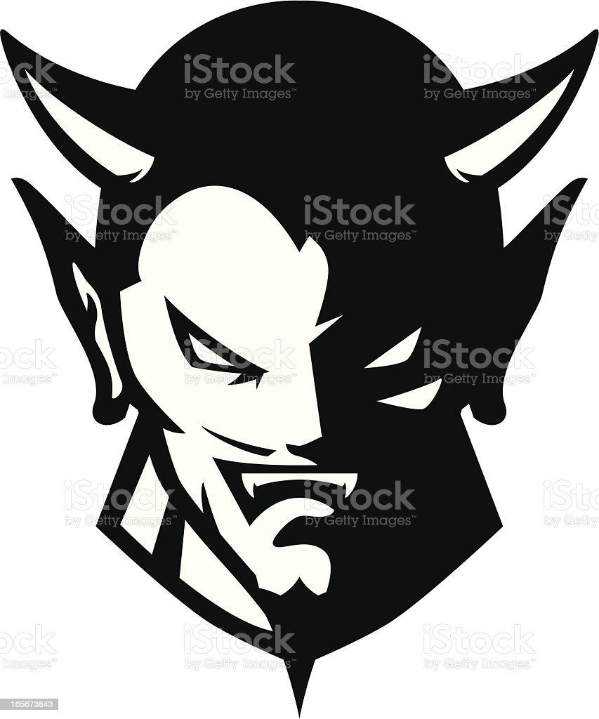 Devil logo vector. Demon character