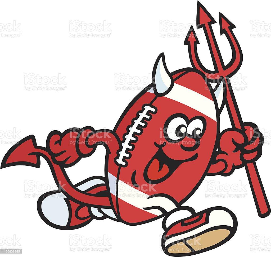 Devil Mascot vector art illustration