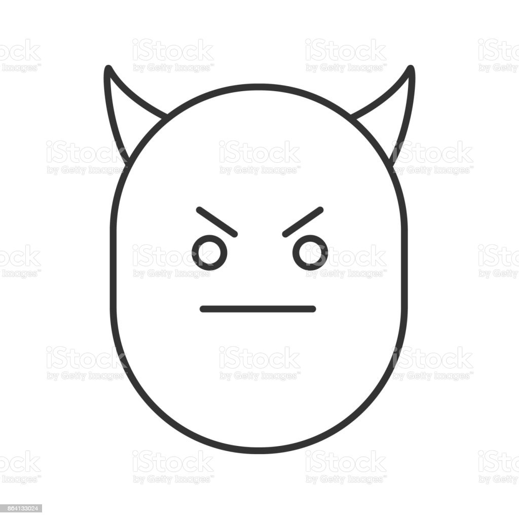 Devil smile icon royalty-free devil smile icon stock vector art & more images of demon - fictional character