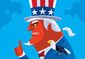 devil uncle sam giving thumbs up