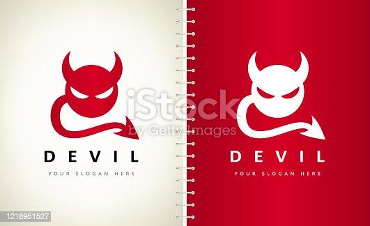 Devil vector design template