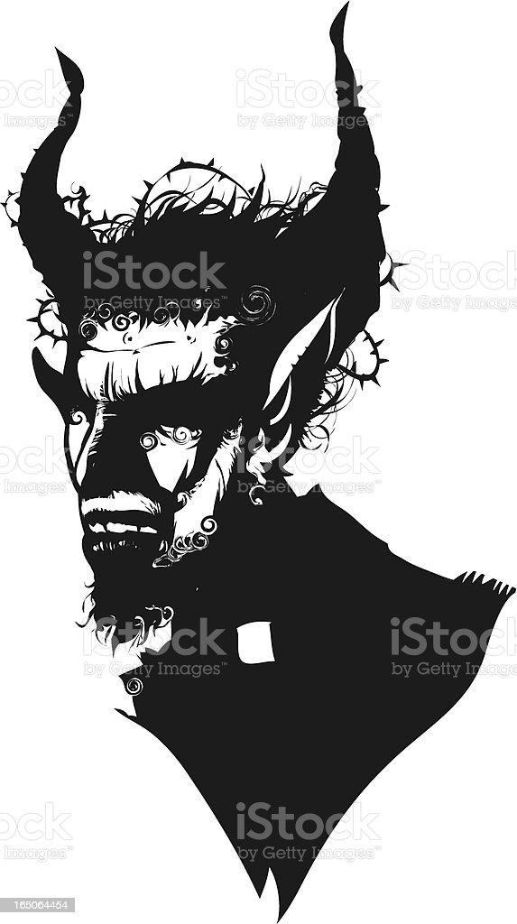 devil vector art illustration