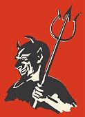 Devil with Pitchfork
