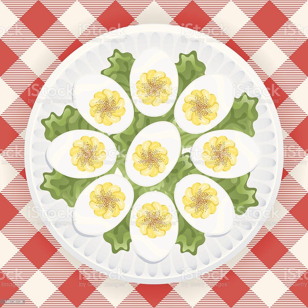 Deviled Eggs royalty-free stock vector art