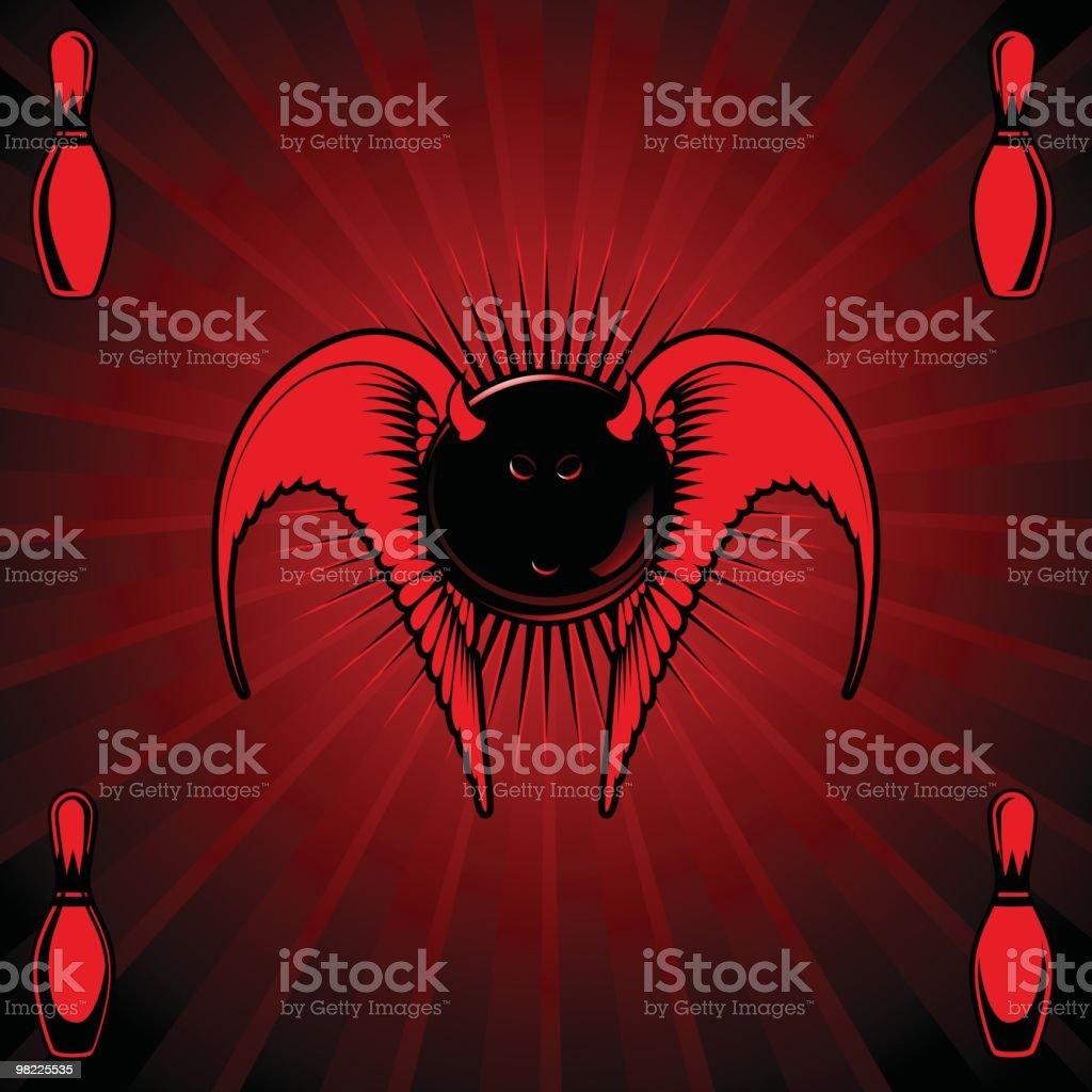 Devilish Bowling Ball royalty-free devilish bowling ball stock vector art & more images of afterlife